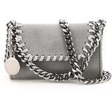 Falabella Micro Shoulder Bag Os Faux Leather - Gray - Stella McCartney Shoulder Bags