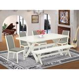 August Grove® 6LA72 6 Pieces Dining Set Wood/Upholstered Chairs in Gray/White, Size 30.0 H in | Wayfair C2E3BD7CFB514BFA825D810BF3983CF8