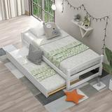 Harriet Bee Twin Size Platform Bed, w/ Two Drawers, Espresso Wood in White | Wayfair 856CA357A8424ED7846CE58774C10E96