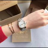 Burberry Accessories | Burberry Silver Dial Two-Tone Ladies Watch Bu9115 | Color: Gold/Silver | Size: Os