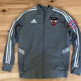 Adidas Jackets & Coats   Adidas Warm-Up Jacket   Color: Gray/White   Size: Youth Large - 13-14 Years