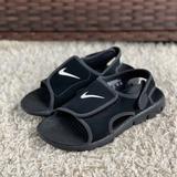 Nike Shoes | Nike Sunray Adjust 4 Boy'S Sporty Sandal Slingback | Color: Black/White | Size: 4b