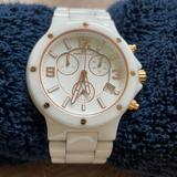 Michael Kors Accessories   Micheal Kors White Ceramic Saphire Crystal Watch   Color: White   Size: 6 Inch Wrist Or Smaller