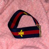 Gucci Jewelry | Gucci Choker Necklace Made From Recycled Strap | Color: Blue/Red | Size: Os