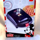 Disney Kitchen | Mickey Mouse Mini Waffle Maker Non Stick Electric | Color: Black | Size: Os
