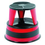 "Cramer 100143 Kik-Step Steel Step Stool, 350 lb cap, 16\"" Diameter x 14 1/4\"" H, Red"