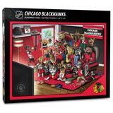 """""""Chicago Blackhawks Purebred Fans 18'' x 24'' A Real Nailbiter 500-Piece Puzzle"""""""