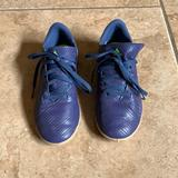 Adidas Shoes   Kids Adidas Indoor Soccer Futsal Shoes Size 3.5   Color: Blue/Green   Size: 3.5bb