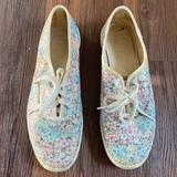 Kate Spade Shoes   Kate Spade Multicolor Floral Glitter Keds Sneakers   Color: Blue/White   Size: 8.5
