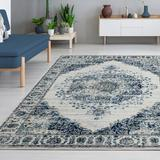 Persian-rugs Magnolia Abstract Ivory Area Rug Polypropylene in White, Size 84.0 H x 60.0 W x 0.5 D in | Wayfair 3210 Ivory 5x7