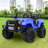 Winado Ride On Truck Children's Best Gift 12V Power Battery Toy Car w/ Remote Control - Plastic in Blue, Size 29.92 H x 50.39 W x 30.71 D in Wayfair