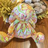Lilly Pulitzer Toys   Rare Lilly Pulitzer Floral Plush Stuffed Bunny   Color: Orange/White   Size: Approx. 11