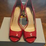Jessica Simpson Shoes   Jessica Simpson Peep Toes Pumps   Color: Red   Size: 8