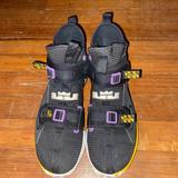 Nike Shoes | Nike Lebron Soldier 13( Yellow And Purple) | Color: Purple/Yellow | Size: 8
