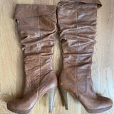 Jessica Simpson Shoes | Camel High Heeled Knee High Boot | Color: Tan | Size: 10