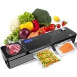 Panarciss Food Vacuum Sealer Machine System w/ 10 Sealer Bags & Electronic Scale in Black, Size 2.9 H x 16.5 W x 3.86 D in | Wayfair LJMCR0713A