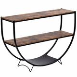 """17 Stories Actrice 48"""" Console Table Wood in Black/Brown/Gray, Size 33.85 H x 48.0 W x 13.3 D in   Wayfair EBBFED5343B04F09A1571465DCE891FE"""