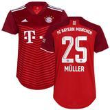 Women's adidas Thomas Müller Red Bayern Munich 2021/22 Home Replica Player Jersey