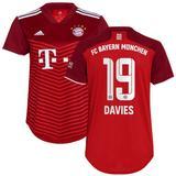 Women's adidas Alphonso Davies Red Bayern Munich 2021/22 Home Replica Player Jersey