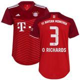 Women's adidas Omar Richards Red Bayern Munich 2021/22 Home Replica Player Jersey