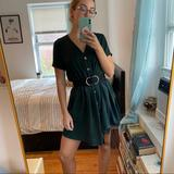 Zara Dresses | Forest Green French Babydoll Dress | Color: Green | Size: S