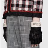 Gucci Accessories   Gucci Crochet Fingerless Gloves   Color: Black/Cream   Size: Large