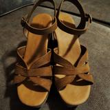 American Eagle Outfitters Shoes   American Eagle Chunky Heeled Sandals   Color: Brown   Size: 8