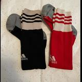 Adidas Accessories | Adidas Soccer Socks | Color: Black/Red | Size: Boys 5 Or Women 6-7