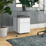 Upper Square™ Gearheart Pedestal 2-Drawer Vertical Filing Cabinet Wood in Gray/White, Size 25.5 H x 17.0 W x 22.5 D in   Wayfair