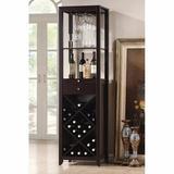 Red Barrel Studio® Rectangular Wine Cabinet Wood in Brown, Size 69.0 H x 15.0 W x 19.0 D in | Wayfair 975EDD2B4B314EA3B55D927AC3C7FB1A
