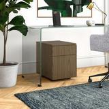 Upper Square™ Gartman Pedestal 2-Drawer Vertical Filing Cabinet Wood in Brown, Size 22.5 H x 17.0 W x 22.5 D in   Wayfair