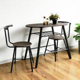 Ebern Designs Piece Breakfast Nook Dining Set Wood/Upholstered Chairs in Brown, Size 29.5 H in   Wayfair EB86C530DF6349BBA46B9353F7A7113D