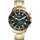 Bannon Multifunction Gold-tone Stainless Steel Watch - Metallic - Fossil Watches