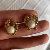 Kate Spade Jewelry   Kate Spade Crab Post Earrings   Color: Gold/White   Size: Os