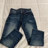 American Eagle Outfitters Jeans | Ae Airflex+ Original Straight Jean - Dark Vintage | Color: Blue | Size: 28
