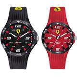 Pista Black & Red Silicone Strap Watch 38mm & 44mm Gift Set - Black - Ferrari Watches