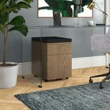 Upper Square™ Gearheart Pedestal 2-Drawer Vertical Filing Cabinet Wood in Black/Brown, Size 25.5 H x 17.0 W x 22.5 D in   Wayfair