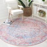 Bungalow Rose Duharte Oriental Pink/Area Rug Chenille/Cotton in Blue, Size 79.0 W x 0.2 D in | Wayfair 0B3A5060FE154415BC66CE9B795D8F0B