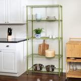 """Rebrilliant 72"""" H x 36"""" W x 14"""" D Storage Shelving Unit Wire/Metal in Green, Size 72.0 H x 36.0 W x 14.0 D in 