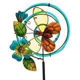 Evergreen Solar Decor - Butterfly Chasing Light Solar Garden Stake