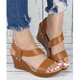 YASIRUN Women's Sandals Brown - Brown Platform Wedge Sandal - Women