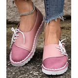 PAOTMBU Women's Alpargatas PINK - Pink Sideways Lace-Up Alpargata - Women