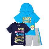 Children's Apparel Network Boys' Casual Shorts BLUE - Baby Shark Blue & Gray Shorts Set - Boys