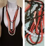 Free People Jewelry   Free People Multi Strand Faux Pearl Chain Necklace   Color: Cream/Orange   Size: Os