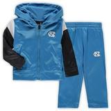 Toddler Light Blue North Carolina Tar Heels Poly Fleece Full-Zip Hoodie and Pants Set
