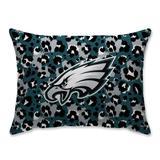 Philadelphia Eagles Leopard Plush Bed Pillow - Green