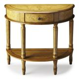 Mozart Tuscan Cream Hand Painted Demilune Console Table - Butler Specialty 667041