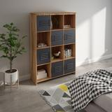 17 Stories Office Etagere Bookshelf Bookcase, Storage Shelves Wood in Brown, Size 59.57 H x 42.91 W x 13.78 D in | Wayfair