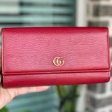 Gucci Bags | Gucci Red Marmont Gg Leather Wallet | Color: Red | Size: Os