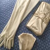 J. Crew Bags   Bridal Bundle! Satin Mask, Gloves, J. Crew Clutch!   Color: Cream   Size: Os
